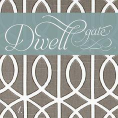 gate trellis pattern by Dwell Studio