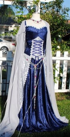 Medieval Corset Lacing Gown