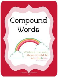 Compound Word packet includes the following: 1. Combine two words to make a compound word cut and paste2. Match the compound word with the correct picture3. Read the sentence and highlight the the compound word with, picture included of what compound word student is looking for4.