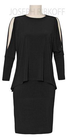 LBD   Split Sleeve   Peplum   Little Black Dress   Joseph Ribkoff Collection #lbd #peplum #josephribkoff Peplum Dress, Dress Up, Classic Elegance, Lbd, Joseph, Spring Summer, Early Fall, Style Inspiration, Fashion 2016