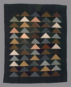 Amish Flying Geese quilt +