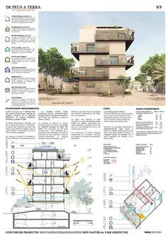 'De peus a terra', un nuevo proyecto de vivienda social que se construirá en Barcelona,Lámina 03. Image Cortesía de Estudio UNTERCIO y Miel Arquitectos