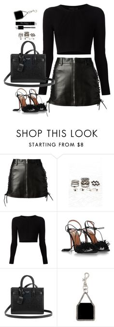 """""""Untitled#4672"""" by fashionnfacts ❤ liked on Polyvore featuring Yves Saint Laurent, Forever 21, Cushnie Et Ochs, Aquazzura, Christian Dior and STELLA McCARTNEY"""