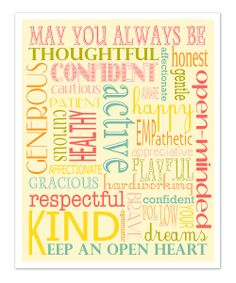 Keep an Open Heart. :: 'May You Always Be' Art Print by Finny and Zook