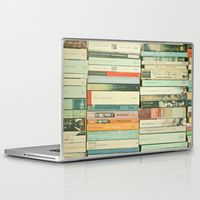"13"" Macbook Pro/Air Laptop Skins featuring Bookworm by Cassia Beck"