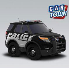 ¡El Ford Police Interceptor Utility 2013 vuelve por primera vez pues estrena la Semana de la Policía! ¡Este auto utilitario puede ser tuyo en Car Town - Agarra uno mientras puedes!  06/05/2013