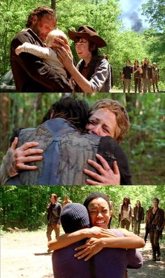 Reunions!!! #TWD I love this episode where everybody catches up with each other!!! #Caryl