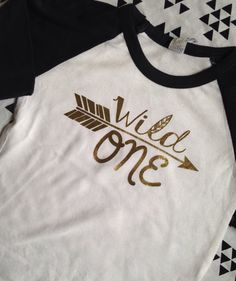 Wild One First Birthday Shirt Raglan Shirt First by PurplePossom