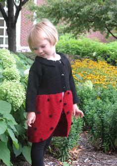 Free Knitting Pattern - Toddler & Children's Clothes: Ladybug Jacket