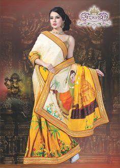 75d9d6ec18 Exclusive collection of latest designer theme sarees online. Designer Sarees,  Designer Wear, Cotton