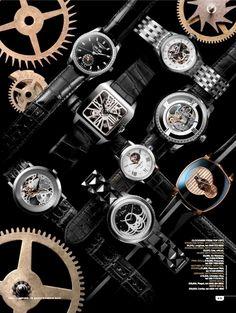 You Inspire, Fine watches shoot Jewellery Editor: Bettina Vetter Photographer: David Newton