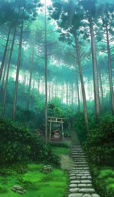 70 Super ideas for wall paper anime scenery art of animation Fantasy Landscape, Landscape Art, Landscape Paintings, Aesthetic Art, Aesthetic Anime, Art Studio Ghibli, Studio Art, Anime Places, Japon Illustration