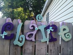 Custom Wood Letter Set6 Letters by definebliss on Etsy, $72.00