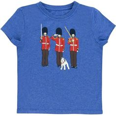 Little boys will love this patriotic t-shirt in our quirky Guards design, team with our striped cotton shorts for a comfy summer look, or with denim to smarten it up.