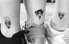 50 Matching Tattoos Sisters Can Get Together Powerpuff Girls Sister Tattoos Tattoos Bff Tattoos, Mini Tattoos, Cartoon Tattoos, Best Friend Tattoos, Sleeve Tattoos, Tattoos For Women Small, Small Tattoos, Powerpuff Girls Characters, Buttercup Tattoo