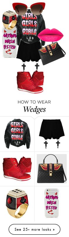 """""""Satans Bottom Ho"""" by setting-trends-you-follow on Polyvore featuring Chicnova Fashion, Gucci, Solange Azagury-Partridge, Louis Vuitton and Dolce&Gabbana"""