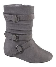 Dress her in warm style for the season in girl's buckle boots by Journee Kids'. These stylish boots feature durable faux suede uppers that rise mid-calf and highlight strappy detail with silver buckle accents. Grey Boots, Black Suede Boots, Brown Boots, Baby Couture, Stylish Boots, Girl Closet, Buckle Boots, Comfortable Fashion, Girls Shoes