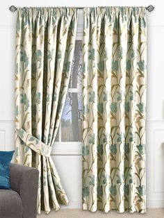Tulip French Delft Ready Made Curtains from Curtains 2go