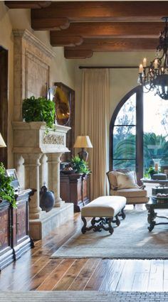 If you are having difficulty making a decision about a home decorating theme, tuscan style is a great home decorating idea. Many homeowners are attracted to the tuscan style because it combines sub… Tuscan Decorating, French Country Decorating, Decorating Games, Beautiful Interiors, Beautiful Homes, Casa Magnolia, Tuscan House, Mediterranean Home Decor, Mediterranean Architecture