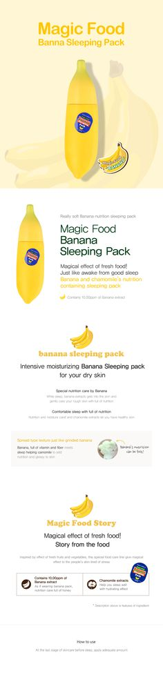 TONYMOLY- MAGIC FOOD BANANA SLEEPING PACK > CLEANSING/PACK/MASSAGE | TONYMOLY GLOBAL