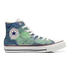 Scarpe Converse All Star personalizzate (Prodotto Artigianale) Fiori Bianchi - TG36 - http://on-line-kaufen.de/make-your-shoes/36-eu-converse-all-star-personalisierte-schuhe-17