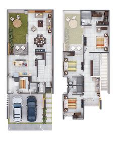 House Layout Plans, Family House Plans, Dream House Plans, Small House Plans, House Layouts, House Floor Plans, Best Small House Designs, Narrow House Designs, Tiny House Design