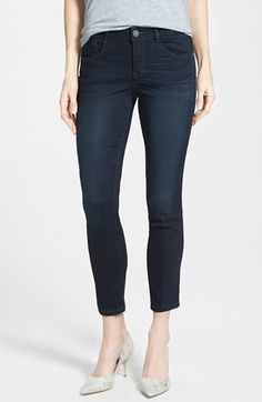 Wit+&+Wisdom+Stretch+Ankle+Skinny+Jeans+(Dark+Indigo)+(Nordstrom+Exclusive)+available+at+#Nordstrom