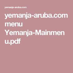 yemanja-aruba.com menu Yemanja-Mainmenu.pdf