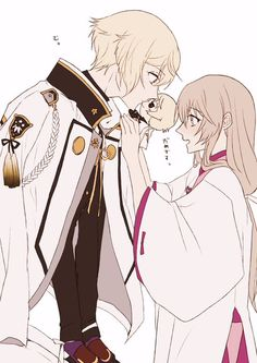 Dk-pg-wvaaaopw- Touken Ranbu, Manhwa Manga, Manga Anime, Anime Love, Anime Guys, Video Game Anime, Animes On, Manga Cute, Couple Drawings