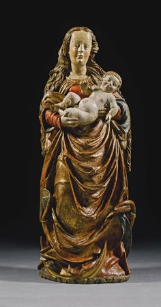 CIRCLE OF HANS LEINBERGER (1475/80-1531) - GERMAN, BAVARIA, CIRCA 1520-1530 VIRGIN AND CHILD.