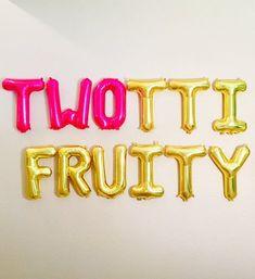 Twotti Fruity, Twotii Fruity Party, Twotti Fruitti, Watermelon Balloon, One in a. Fruit Birthday, 2nd Birthday Party Themes, Second Birthday Ideas, Girl 2nd Birthday, Watermelon Birthday, Birthday Crafts, Mermaid Birthday, Birthday Presents, Baby Showers