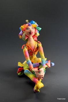 Cloth Art Doll Sophia by Treenickel on Etsy