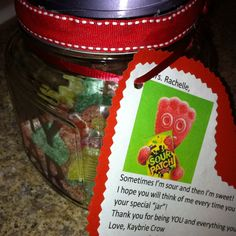 Sour Patch Kids in an Etched Container for Teachers Appreciation! My own creation! Sour Patches, Sour Patch Kids, Funny Valentine, Valentine Ideas, Boyfriend Anniversary Gifts, Boyfriend Gifts, Boyfriend Birthday, Teacher Appreciation Gifts, Teacher Gifts