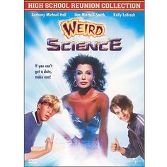 Weird Science is a 1985 American teen sci-fi comedy film written and directed by John Hughes and starring Anthony Michael Hall, Ilan Mitchell-Smith, and Kelly LeBrock. Teen Movies, Sci Fi Movies, Comedy Movies, Funny Movies, Weird Science Movie, Science Movies, Zootopia 2016, Rotten Tomatoes, Kelly Lebrock Weird Science