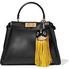 Fendi Fringed leather bag charm (41.925 RUB) ❤ liked on Polyvore featuring accessories and fendi