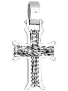 Σταυρός 14Κ από Λευκόχρυσο SVA501