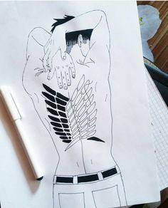 Paper drawing, fine liner. | Anime/manga: Shingeki no Kyojin (Attack on Titan) [Levi Ackerman] Attack On Titan Levi, Paper Drawing, Levi Ackerman, Death Note, Tokyo Ghoul, My Arts, Manga, Drawings, Instagram Posts