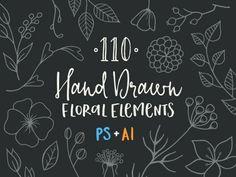 110 ručne kreslených floral prvkov zadarmo   https://detepe.sk/110-rucne-kreslenych-floral-prvkov-zadarmo
