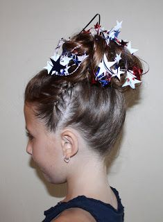 Hairstyles for Girls.. The Wright Hair: 4th of July Fancy Hair