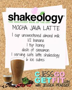 SHAKEOLOGY RECIPE mocha java latte