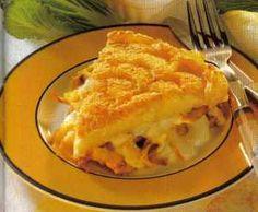 Kip- en witlofreepjes met kaas en puree
