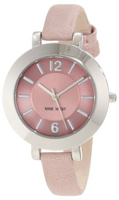 Silver-Tone and Light Pink Watch