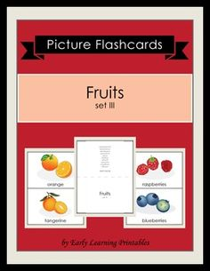 Click here to download your Fruits (set III) Picture Flashcards: $2.85