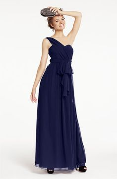 Strapless Chiffon Gown | Nordstrom