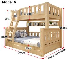 Online Shop Louis Fashion Children Bunk Bed Real Pine Wood with Ladder Stair Drawers Safe and Strong Bunk Bed Rooms, Bunk Beds With Stairs, Kids Bunk Beds, Stair Drawers, Wooden Bunk Beds, Bunk Bed Plans, Bunk Bed Designs, Kids Room Design, Loft Spaces