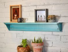 Handmade 30-inch Long One Level Wall Shelf in Color OF YOUR CHOICE - Wooden Display Shelf - Sturdy Handmade Storage Shelves by signedandnumbered on Etsy https://www.etsy.com/listing/95463506/handmade-30-inch-long-one-level-wall