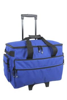 0bf290c69e BlueFig Wheeled Sewing Machine Carrier (Cobalt) The Bluefig sewing trolley  is an economical alternative to many deluxe trolleys. Stylish colors with
