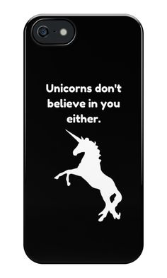 Unicorn Funny Quote iPhone SE Case @redbubble