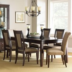Steve Silver Wilson 7-Piece Contemporary Dining Set with Parsons Chairs $1099 on sale