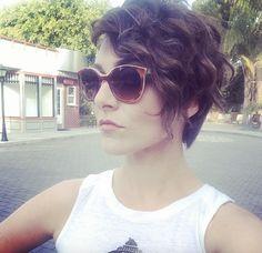 Amy from Karmin.  Short wavy hair